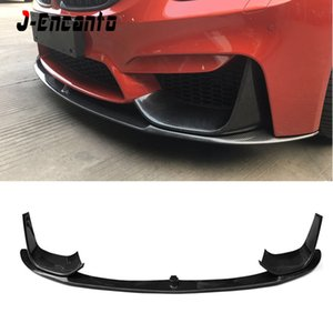 NEW Carbon Fiber Car Front Bumper Lip Chin Spoiler With Removable Side Splitter For BMW M3 F80 MP Style 2014-2019