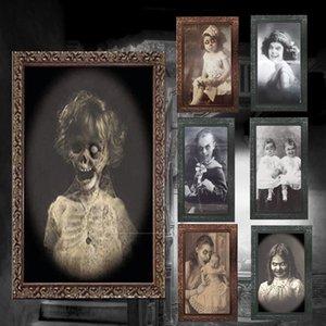 Новые 3D Ghost Photo Frame Ужасы Картинки Кадры Изменение Лица Призрак Halloween Party Декор Хэллоуин Украшения Реквизит