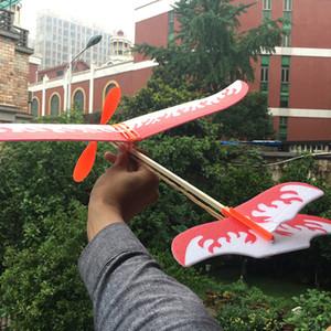 Brinquedos Crianças Rubber Band Para alimentado planador plano do vôo Avião Modelo DIY Assembléia avião para Kid presente Atacado