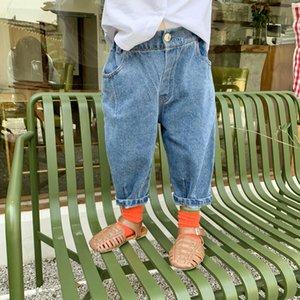 Printemps Automne garçons filles pants de Navet denim mode 2020 enfants jeans mode enfants denim pantalon