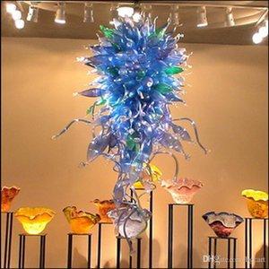Mão moderna lâmpadas lustre lâmpadas de lâmpadas projetado personalizado decorativo lâmpada de pingente de vidro italiano grandes candelabros de luxo