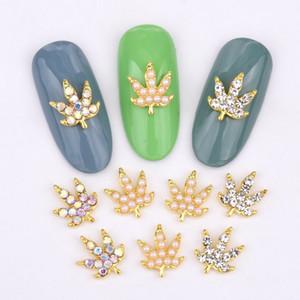 10 pcs nouvelle série de feuilles strass pierres précieuses en verre décoratif nail art alliage effet rétro accessoires ongles charme bricolage LH333-342