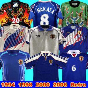 Japan Retro Soccer Jersey 1994 1998 2000 2006 Inicio # 8 Nakata Kazu Nanami Nakayama 2000 Euro Fútbol Camisa de fútbol 1998 Uniformes de fútbol de la Copa Mundial