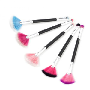 1 Pcs Double Headed Makeup Brushes Set Professional Cosmetic Tools Facial Make Up Brushes Fan Shape Eye Shadow Brushes TSLM1