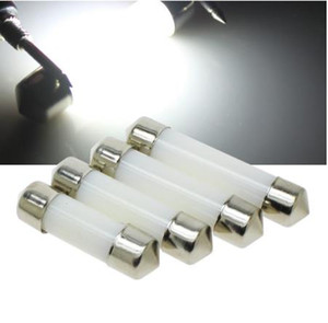LED Festoon Kubbe 31mm 36mm 39mm 41mm 212-2 6418 Soğuk Beyaz Okuma Plaka lambası Ampul Sütlü Kapak Ampüller 12V led C5W