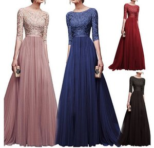 Europe and the United States fall winter foreign trade new evening dress explosions chiffon evening dress dress mature display figure