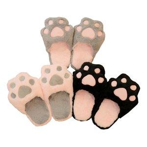 Winter Women Home Slippers Cartoon Cat Shoes Non-slip Soft Winter Warm House Slippers Indoor Bedroom Lovers Couples Floor Shoes