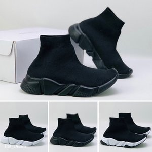 Hot Fashion Children Kids Shoes Girls Boys Youth Childrens Trainers Pink Triple White Black Blue Red Slip-on Youth Kids Sneakers