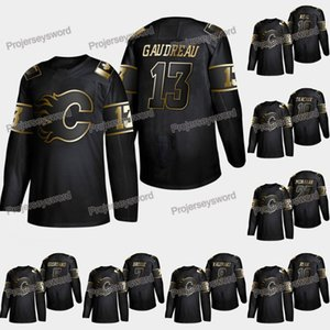 Calgary Flames Johnny Gaudreau 2019 Golden Edition Jersey James Neal Mark Giordano T.J. Brodie Matthew Tkachuk Garnet Hathaway Dalton Prout
