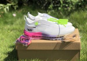 Haute Qualité Serena Williams x 97 Queens OFF Femmes Hommes Chaussures Casaul 97 OG arc-en-Rose Dégradé Violet Jaune Blanc Noir Gris Chaussures