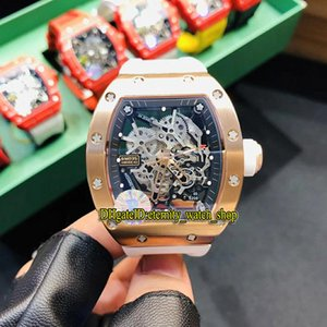 R Top version RM 035 AMERICA5 Rose Gold Case Skeleton Dial Japan NH Automatic RM035 Mens Watch Sapphire Rubber Sport Luxury Designer Watches