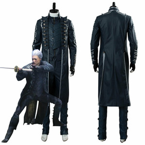 Devil May Cry 5 DMC5 Vergil Envelhecido Cosplay Outfit Conjunto Completo Jaqueta Uniforme