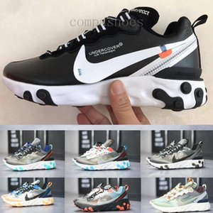 React Element 87 Undercover Men Running Shoes For Women Sneakers Sports Mens Trainer Shoes Sail Light Bone Royal Tint KP562