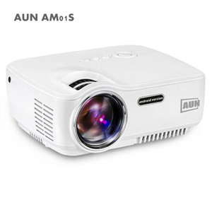 AUN AC01S أجهزة العرض المحمولة 1400 شمعة طقم العارض LED في Android 4.4 Wi-Fi Bluetooth