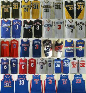 Philadelphia76res Allen #3 Iverson Shirt 6 Julius 32 Erving Wilt 13 Chamberlain Drazen 3 Petrovic IndianaPacers Reggie 31 Miller Jerseys