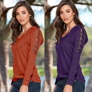 2016 Women Casual Long Sleeve Solid Hoodies Sweatshirt Jumper Pullover Tops