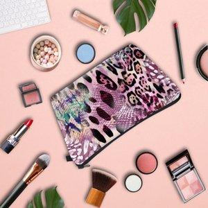 Женская Дизайнер сцепление Leopard-печать Яркого Cosmetic Bag Ladies Многофункционального путешествие Отделки хранение сумки для девочки партии 2020 Горячих