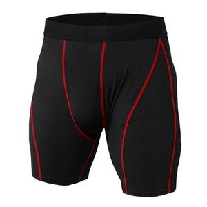 venda quente Homens Ginásios Curto elástica de compressão calças justas de Fitness Musculação respirável de secagem rápida Curto Ginásios Men Casual Joggers Shorts