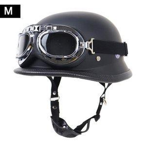 الألمانية خوذة قاطرة ريترو خوذة الدراجات النارية في الهواء الطلق ركوب نصف مع نظارات