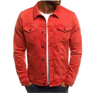Vintage para hombre diseñador chaquetas Color sólido Denim vaquero camisas hombre mujer invierno fina chaqueta Casual abrigo