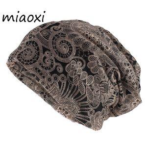Miaoxi Hip Hop Mode Femmes Hat Caps Lady Summer Rayon Foulard Double Beanies Utiliser adulte fille Gorros Marque Casual Chapeaux