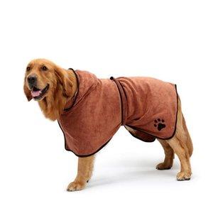 Fast Dry Pet tovagliolo di bagno rapidamente assorbendo l'acqua Accappatoio per cane e gatto taglia XL (Brown)