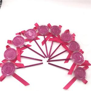 Falso 3D Mink Pestañas Caja Lollipop las pestañas de la pestaña del paquete Caso Mink Pestañas Caja de almacenamiento creativa durante Lash Cajas de herramientas de maquillaje