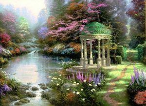 Томас Кинкейд Garden Of Prayer Home Decor расписанную HD печати живопись маслом на холсте Wall Art Canvas картинки 200121