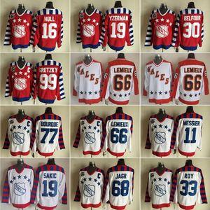 Vintage Todos os 2.016 Estrela CCM Hockey 16 Brett Hull Jerseys 11 Mark Messier 19 Joe Sakic 19 Steve Yzerman 30 Ed Belfour
