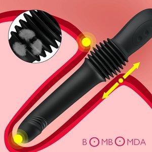 Kadınlar Vajina G Spot Stimulatör Anal Plug Clit Vibratör Yetişkin T200510 İçin Otomatik Teleskopik Dildo Kadın Masturbator Vibratör Seks Oyuncakları
