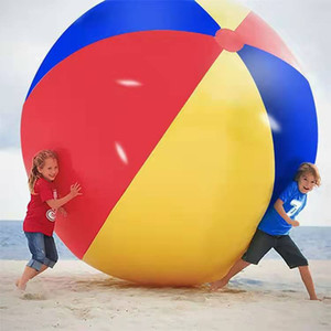 200CM / 80inch نفخ شاطئ بركة لعب كرة الماء صيف الرياضة تلعب لعبة بالون في الهواء الطلق لعب في الماء كرة الشاطئ
