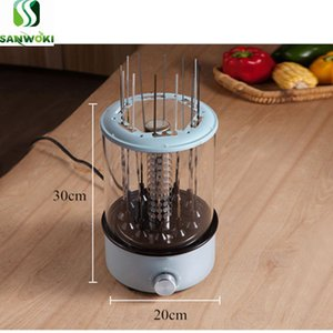 Makine barbekü makinesi Dumansız Otomatik Rotasyon barbekü ızgara kebap ızgara kavurma Ev Elektrikli koyun şiş