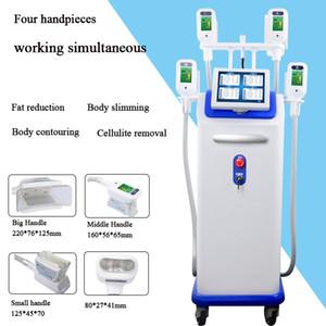 Système d'amincissement de vide cryolipolysis gel Machine enlèvement cellulite 4 poignées cryo peuvent travailler en même temps,
