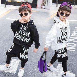 2019 nuevo otoño verano dos piezas 6 niño suéter manga larga + pantalones primaria escuela ropa deportiva ropa deportiva ropa para niños 2 set