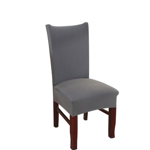 Dreamworld Black Chair Sleepcover Gray Chair Covers Spandex Dinning Room Stretch Seat Cover for Home Removable Cover