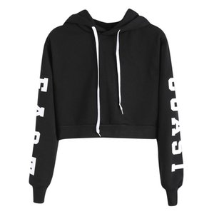 Womens Letters Long Sleeve casual Hoodie Sweatshirt Pullover Tops Blouse sell good moletom masculino com capuz