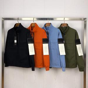 Topstoney 2020SS весной и осенью европейский и американский стиль половина Zipper konng Gong вскользь куртка с модным брендом тенденции пальто