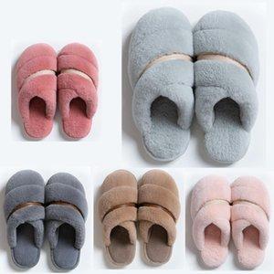 hotsale mujeres no Marca de invierno los hombres Zapatilla de piel chanclas sandalias cubierta Mantenga zapatos caliente Inicio de goma sandalias planas 38-45 Estilo 25