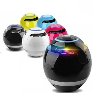A18 Ball LED light Speaker Mini Portable Wireless Bluetooth Speaker Sound Bass Sound box with Mic TF Card For Smartphone