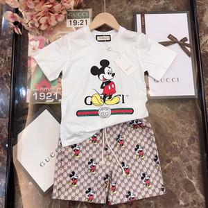 Erkekler kısa kollu elbise yaz yeni çocuk spor giyim pamuk moda yakışıklı spor iki parçalı eğilim G2023