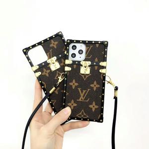 Retro Imprimer Lettre Téléphone pour iPhone 11 PRO X XS MAX XR 7 7plus 8 8plus 6 6s plus 11Pro TPU cuir PU Retour couverture Défilé de mode Designer