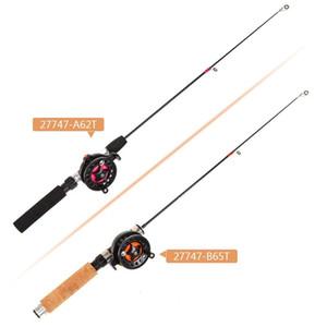 Glace cannes à pêche Set Polonais Rod poisson Costume poissons d'hiver de vitesse costumes ultra courte portable EVA Telescoping 16 Handgrip 5LO O1