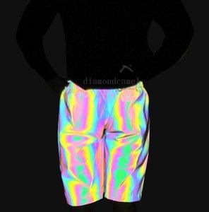 Adulti Colorful riflettenti Shorts donne amanti degli uomini di Hip-hop cinque centesimi pantaloni casual Outdoor Sports Fantasy cinque centesimi Pants