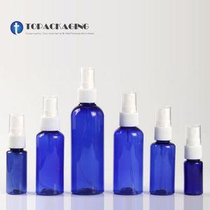 100PCS*10 20 30 50 60 100ML Empty Blue Plastic Spray Pump Bottle Sample Liquid Refillable Fine Mist Atomizer Cosmetic Container