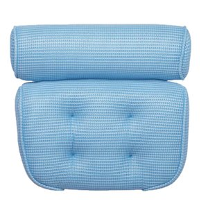 Suction Up Bath Tub Pillow Spa Cushion Neck Shoulder Relaxation Massage Blue