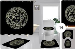 poliéster de luxo vendendo digital nova suite WC multi-função de banho impermeável cortina de chuveiro cortina atacado 119