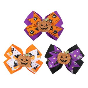 4,5 polegadas Halloween para crianças de abóbora Hairpin morcego bowknot Headwear Meninas Meninos fantasmas clipes abóbora Cabelo Partido Cabelo Acessórios M2469