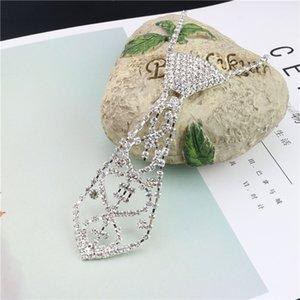European Style New Verkauf von Braut Strass Krawatte Halskette Strass Halskette Greifer-Ketten-Krawatte Schmuck Großhandel