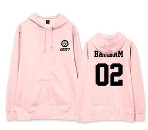 Mainlead KPOP GOT7 Colore Rosa sweatershirt con cappuccio Jackson Bambam casual 2018 Unisex