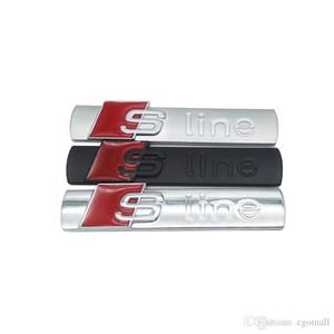 سيارة معدنية 3D S خط ملصق غطاء لأودي A3 Sline شعار-A4 A5-A6-Q3-Q5-Q7 B7 B8 C5 S6 سيارات سيارة ملصق اكسسوارات ذات نوعية جيدة